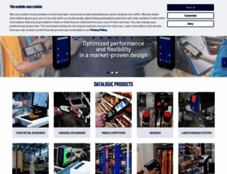 datalogic.com screenshot