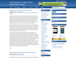 dataqualitybook.com screenshot