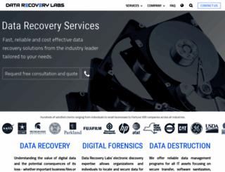 datarecoverylabs.com screenshot