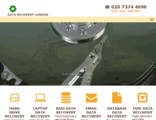 datarecoverylondon.co.uk screenshot