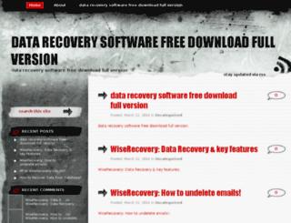 datarecoverysoftwarefreedownloadfullversion.org screenshot