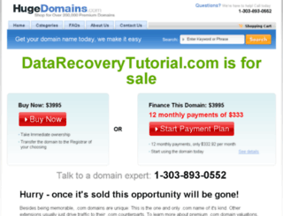 datarecoverytutorial.com screenshot