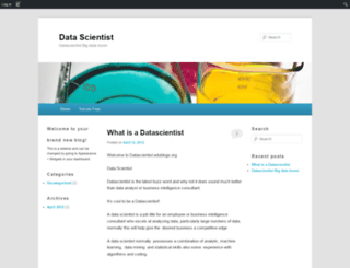 datascientist.edublogs.org screenshot