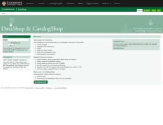 datashop.cambridge.org screenshot