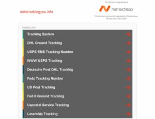 datatrackingyou.info screenshot