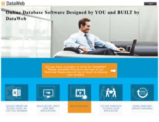 dataweb.com screenshot
