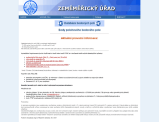 dataz.cuzk.cz screenshot