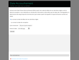 dateaccouchement.com screenshot