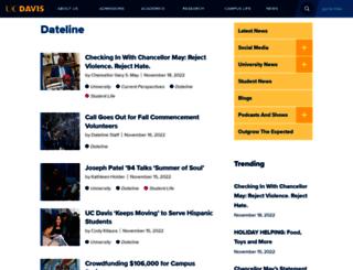 dateline.ucdavis.edu screenshot