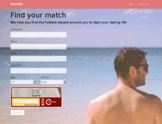 dateme-demo.grohsfabian.com screenshot