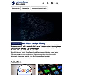 datenschutz.hessen.de screenshot