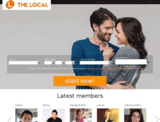 dating.thelocal.de screenshot