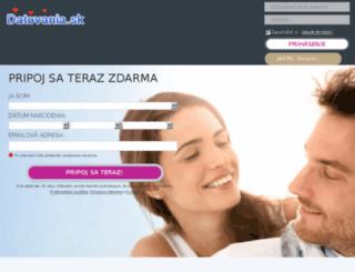 datovania.sk screenshot