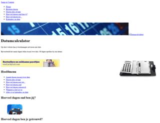 datumcalculator.nl screenshot