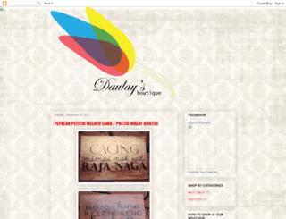 daulaysboutique.blogspot.com screenshot