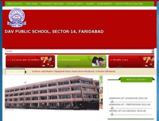 dav14faridabad.org screenshot