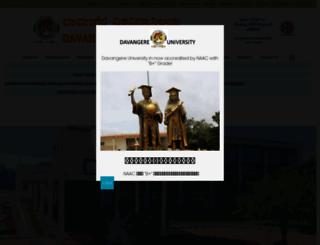 davangereuniversity.ac.in screenshot