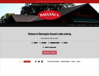 davannisbloomington.foodtecsolutions.com screenshot