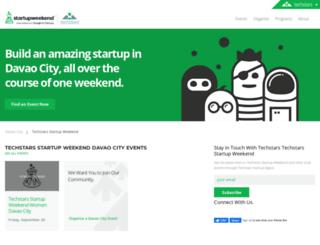 davao.startupweekend.org screenshot