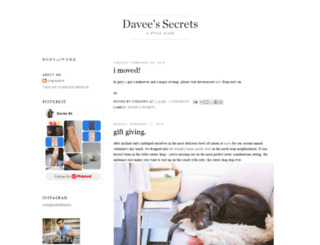 daveesecrets.blogspot.co.nz screenshot