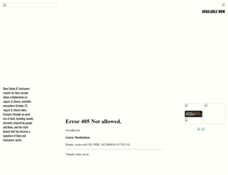 davegahan.com screenshot