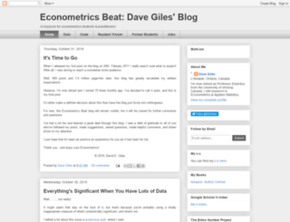 davegiles.blogspot.com screenshot