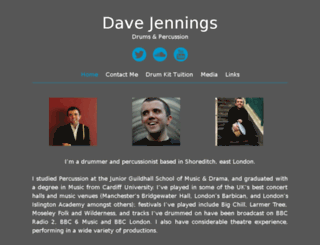 davejenningsdrums.com screenshot