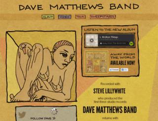 davematthewsbandspotify.com screenshot