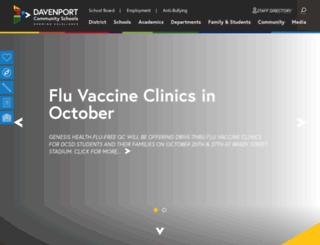 davenport.k12.ia.us screenshot