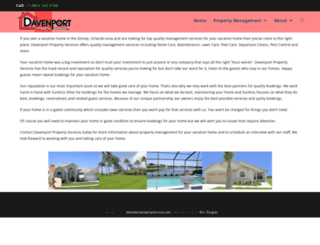 davenportpropertyservices.com screenshot