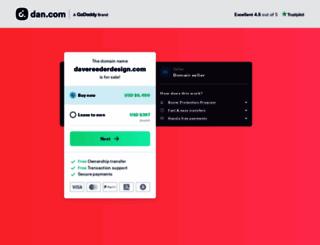 davereederdesign.com screenshot