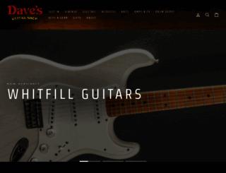davesguitar.com screenshot