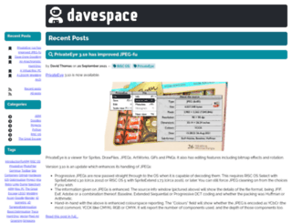 davespace.co.uk screenshot