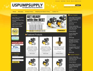 daveywaterpumps.com screenshot