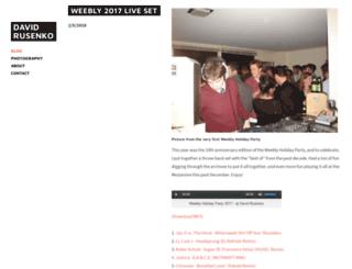 david.weebly.com screenshot