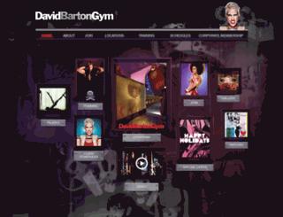 davidbartongym.com screenshot