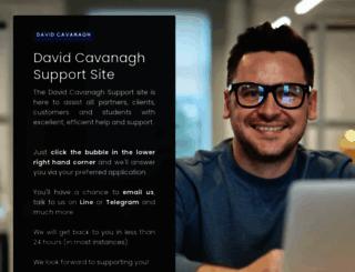 davidcavanaghsupport.com screenshot