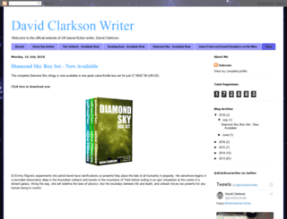 davidclarksonwriter.com screenshot