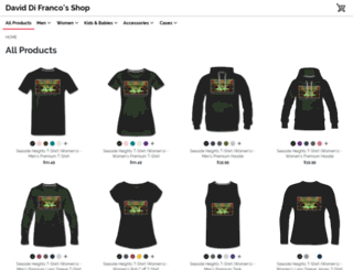 daviddifranco.spreadshirt.com screenshot