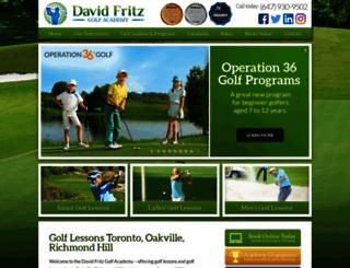 davidfritzgolf.com screenshot