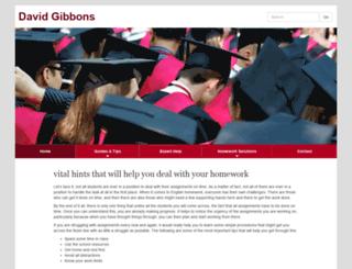 davidgibbons.org screenshot