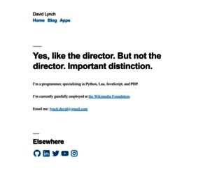 davidlynch.org screenshot