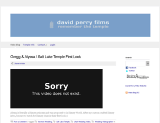 davidperryfilms.squarespace.com screenshot