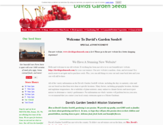 davids-garden-seeds-and-products.com screenshot