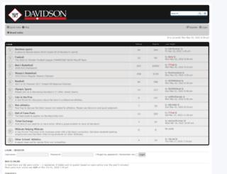 davidsoncats.com screenshot