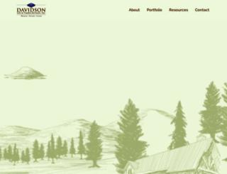 davidsonloghomes.com screenshot