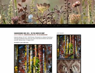 davidsylvian.com screenshot