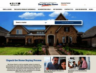 davidweekleyhomes.com screenshot