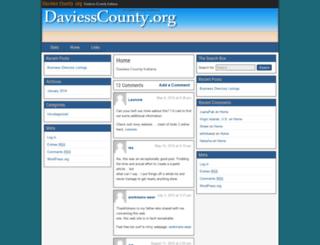 daviesscounty.org screenshot