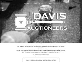 davisauctiontx.com screenshot